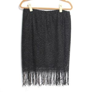 3 for $15 Melissa Paige Sparkle Lace fringe skirt